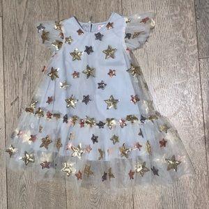 Halabaloo sequin star toddler dress